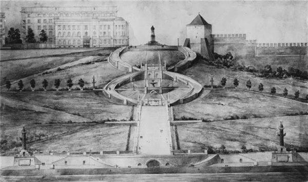 Проект Сталинградской (Чкаловской) лестницы