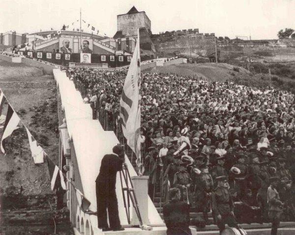 Торжественное открытие лестницы (1949 год)