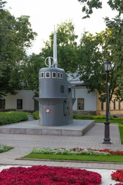 Макет рубки подводной лодки С-13