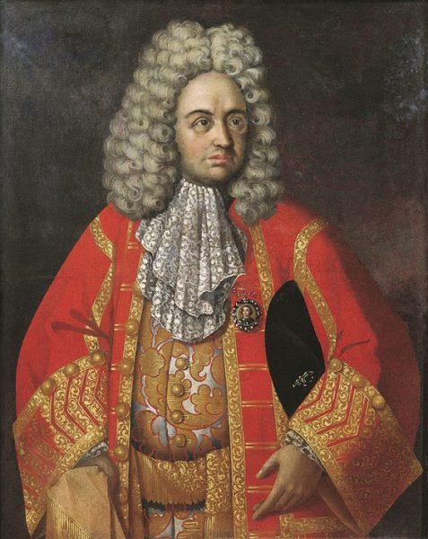 Григорий Строганов. На камзоле - медальон с портретом царя Петра I