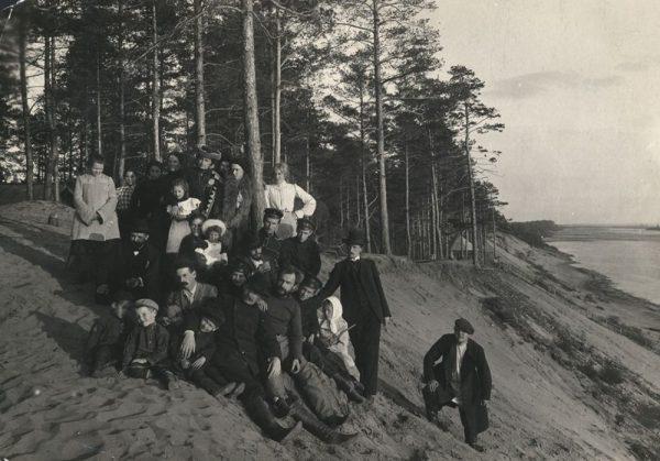 А.М. Горький и Ф.И. Шаляпин на Моховых горах