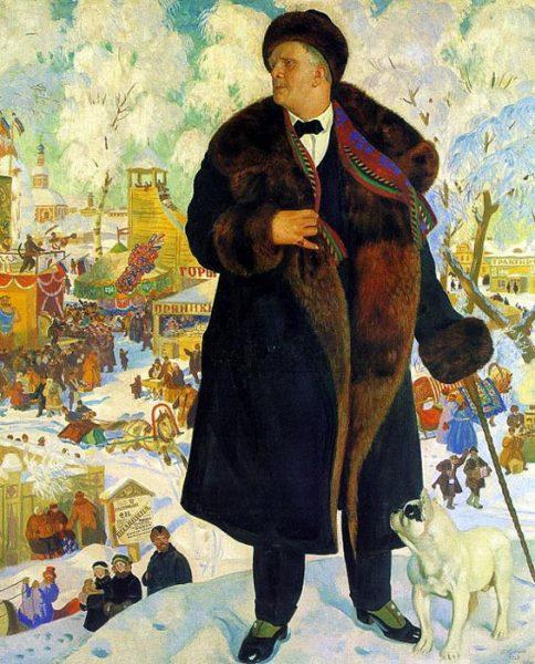Кустодиев, Борис (1878-1927) Портрет Федора Шаляпина 1922г
