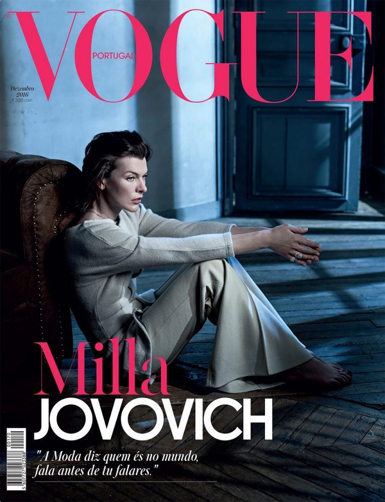 Milla Jovovich, самая свежая фотосессия. Vogue Portugal — декабрь 2016