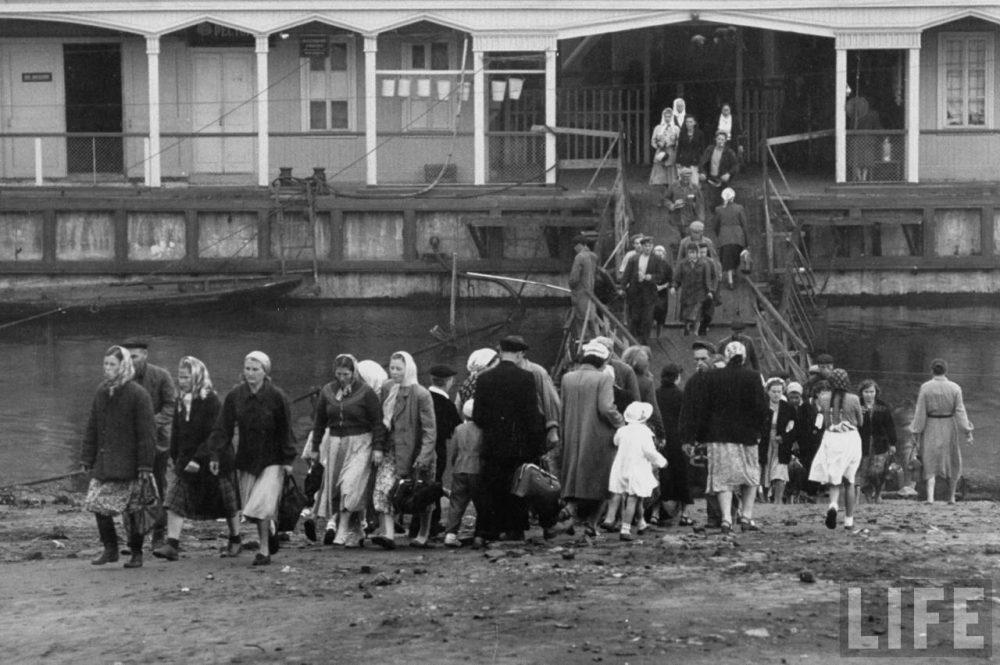Путешествие по Волге, 1958 год. Россия, история, ретро-фото.