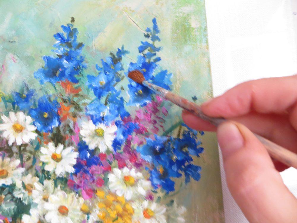 Мастер-класс по живописи гуашью. Букет полевых цветов