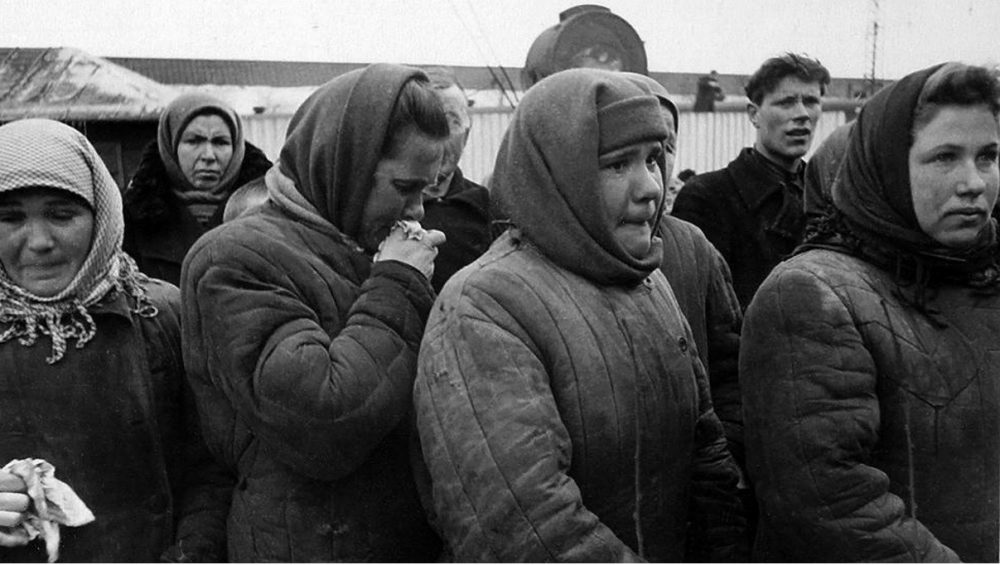 Похороны Председателя Совета Министров СССР и Секретаря ЦК КПСС Иосифа Виссарионовича Сталина, скончавшегося 5 марта 1953 года. Ретро-фото.