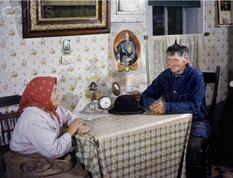 Портрет семейной пары американских фермеров