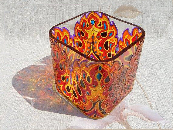 Мастер класс витражной росписи ваз