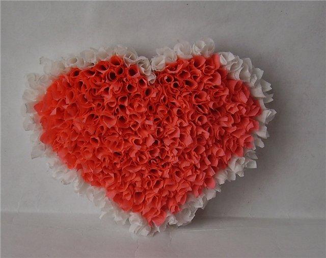 Объёмное сердце из салфеток своими руками 85