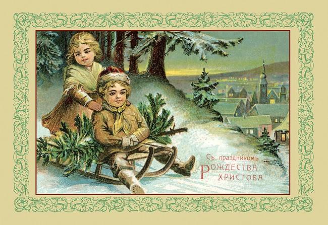 Открытки 18-19 веков рождество