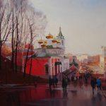 Любимый город в нежных тонах на полотнах Алексея Чернигина