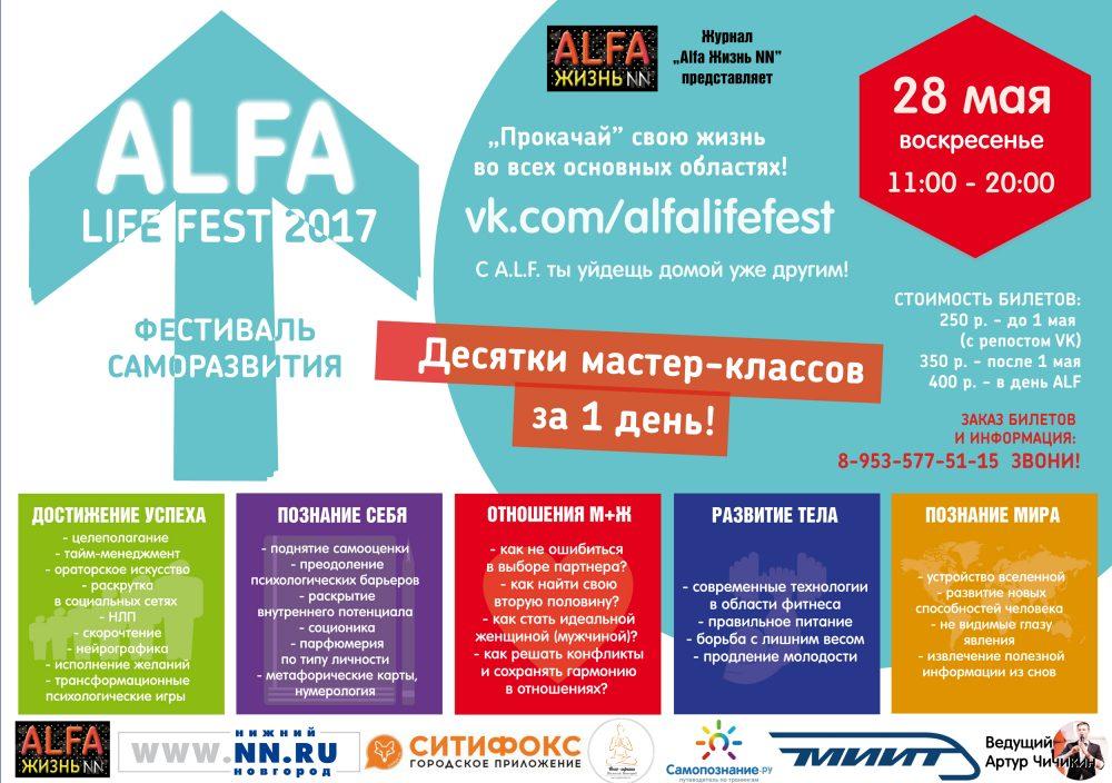 Фестиваль саморазвития ALFA LIFE FEST 2017