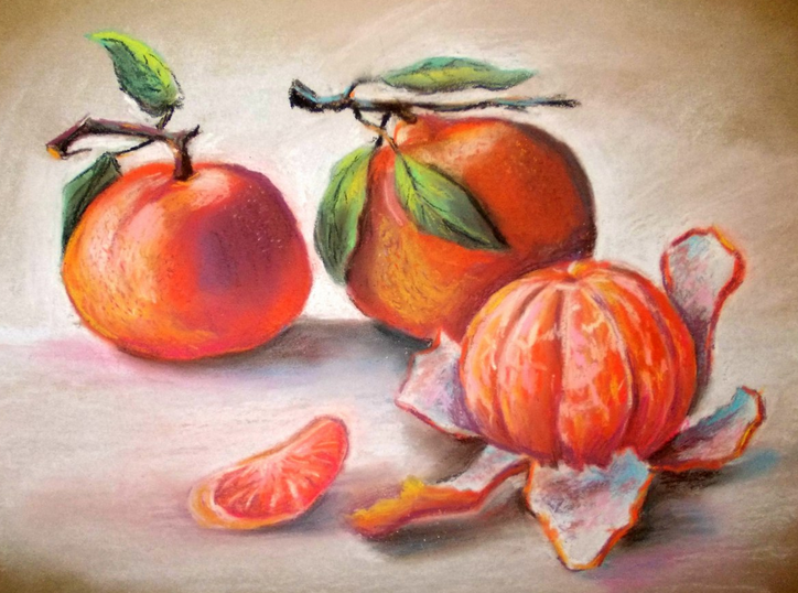 Мастер-класс рисование сухой пастелью