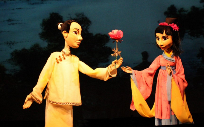 Кукольный спектакль Храбрый Цзы Цун и хитрый Цзы Бэнь