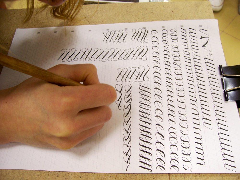 Мастер-класс по каллиграфии Спенсериан
