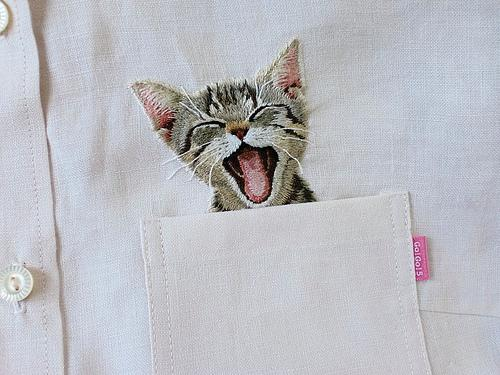 Схема вышивки котов гладью