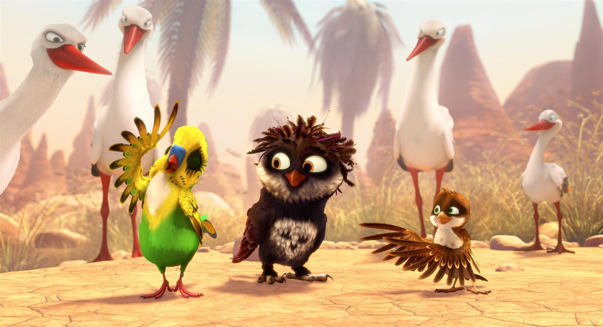 Приключенческий мультфильм Трио в перьях