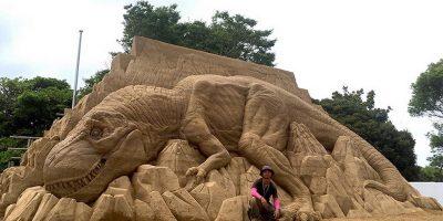 Великолепная 3D скульптур, созданных из песка - Тосихико Хосаки