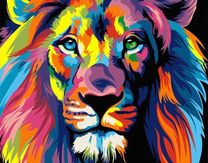 Drink and Draw и цветной лев