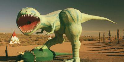 придорожные динозавры на Route 66