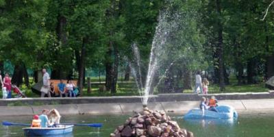 Фонтан на территории парка им. 1 Мая