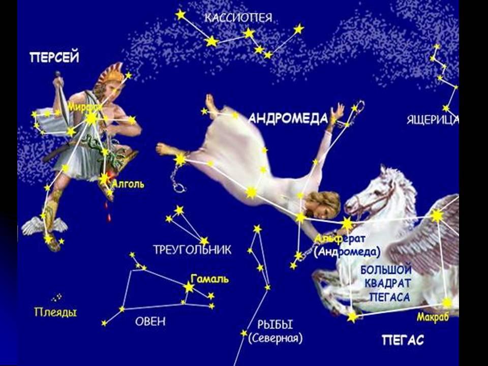 Созвездия и яркие звёзды осени