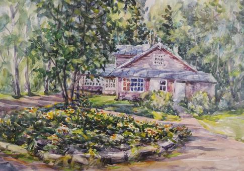 Выставка акварелей Михаила Шуварина Мой милый дом, мой милый сад…