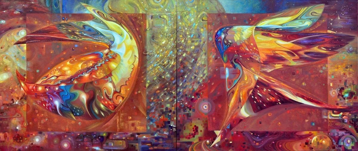Выставка Елены Березиной Wave art – искусство волны