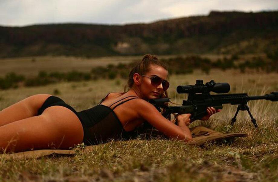 Прикольные картинки женщины с оружием