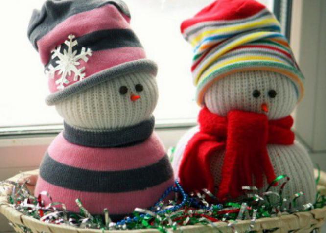 мастер-класс Новогодний снеговик