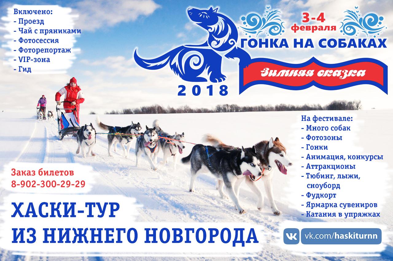 Хаски-тур на фестиваль Зимняя сказка из Нижнего Новгорода