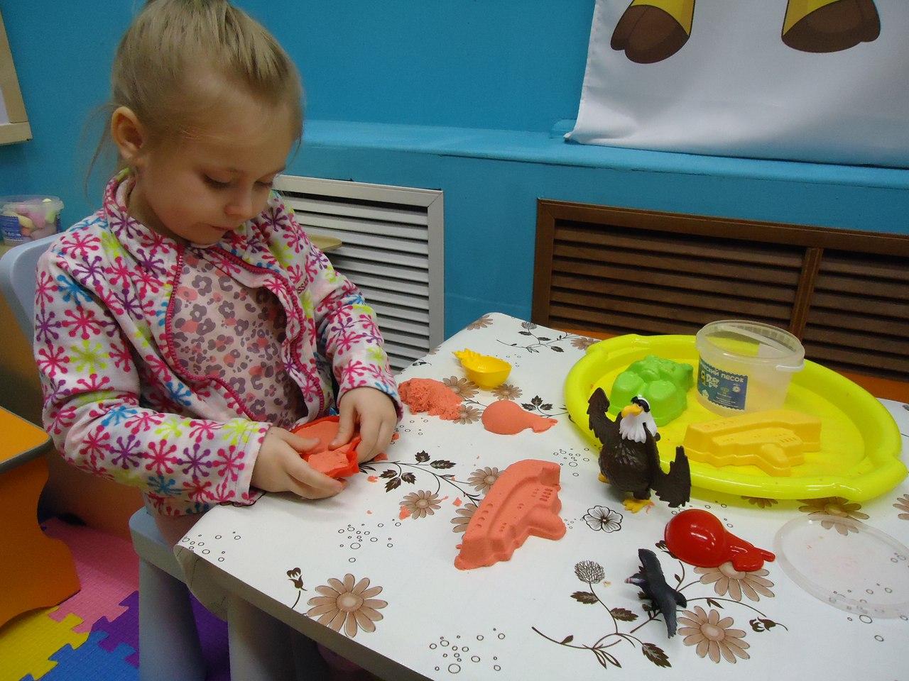 мастер-классы с песком для малышей до 3 лет