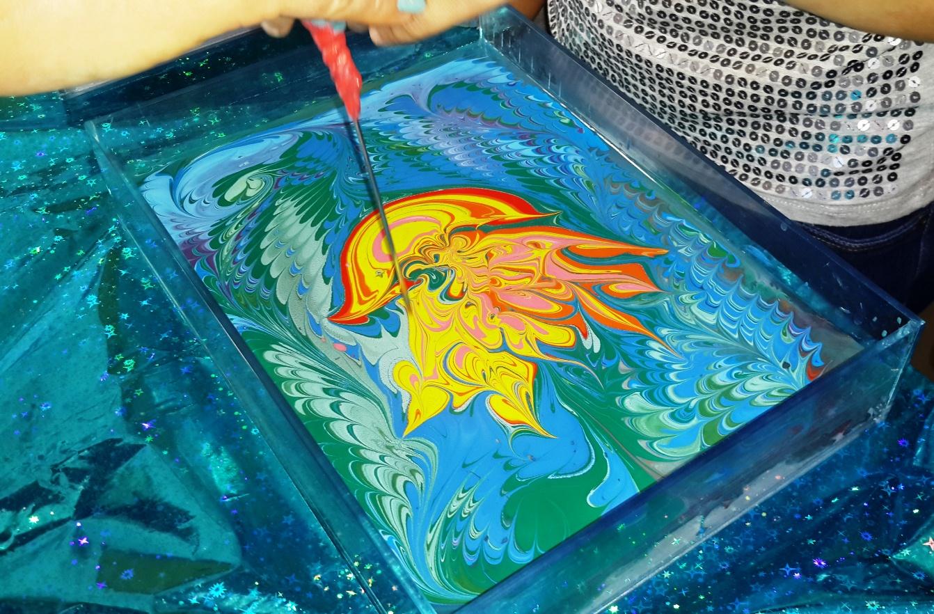 Мастер-классы: Эбру. Рисование на воде.
