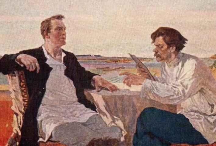 Выставка Горький в живописи
