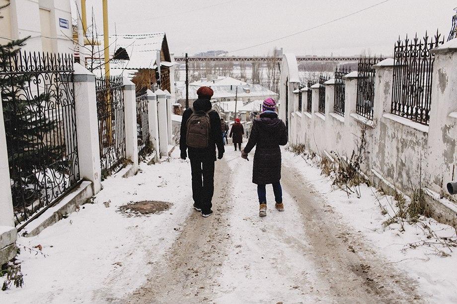 прогулка: улица Черниговская и Гребешковский откос