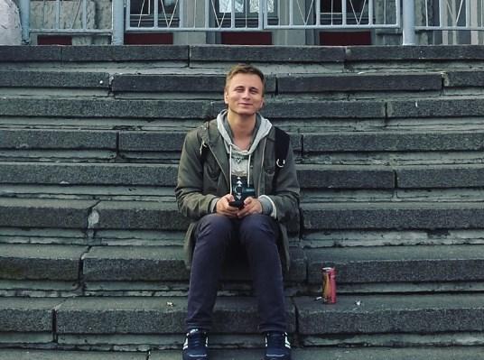 Выступление поэта Виталия Маршака