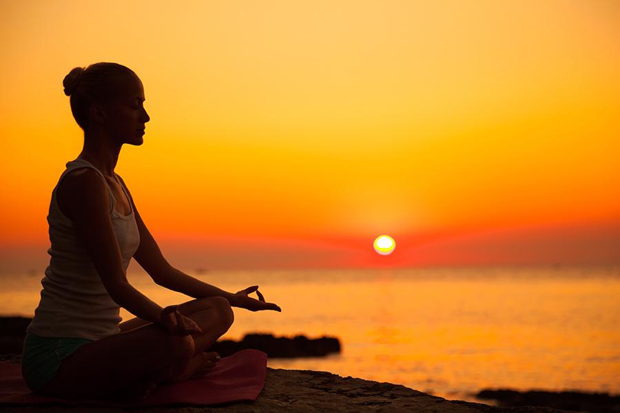 Занятие Йога на закате