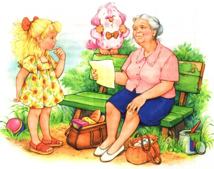 Игра-путешествие Прогулку с бабушкой