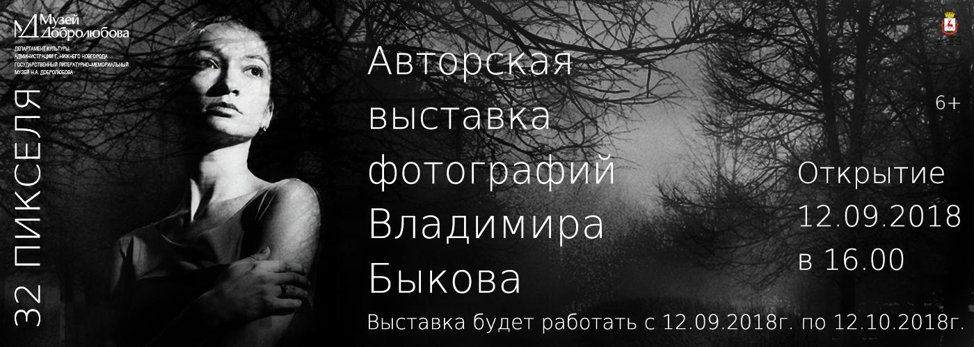 АВТОРСКАЯ ВЫСТАВКА ФОТОГРАФИЙ ВЛАДИМИРА БЫКОВА «32 ПИКСЕЛЯ»