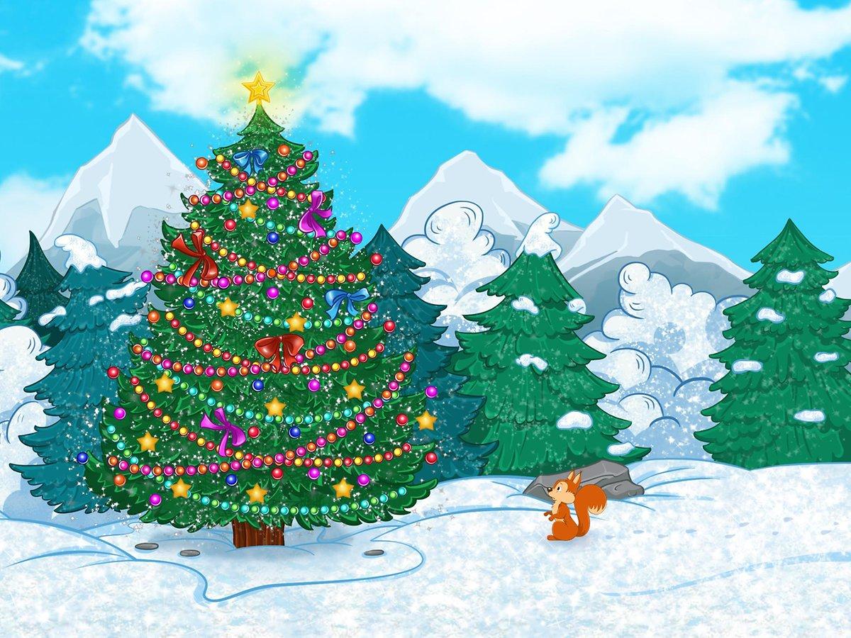 Новогодняя детская интерактивная елка — «Приключения в снежном лесу»