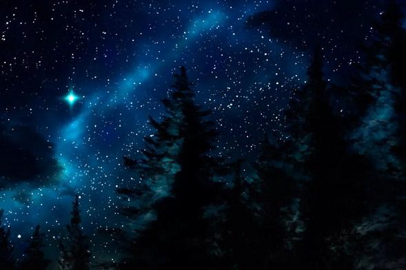 Звёздное небо зимы