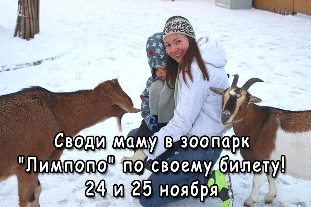 Акция в зоопарке «Лимпопо» всем мамам посвящается!