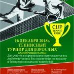 теннисный турнир для взрослых в одиночном разряде