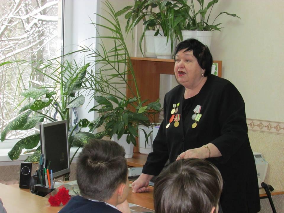 встреча с ветераном труда Тамарой Капитановой