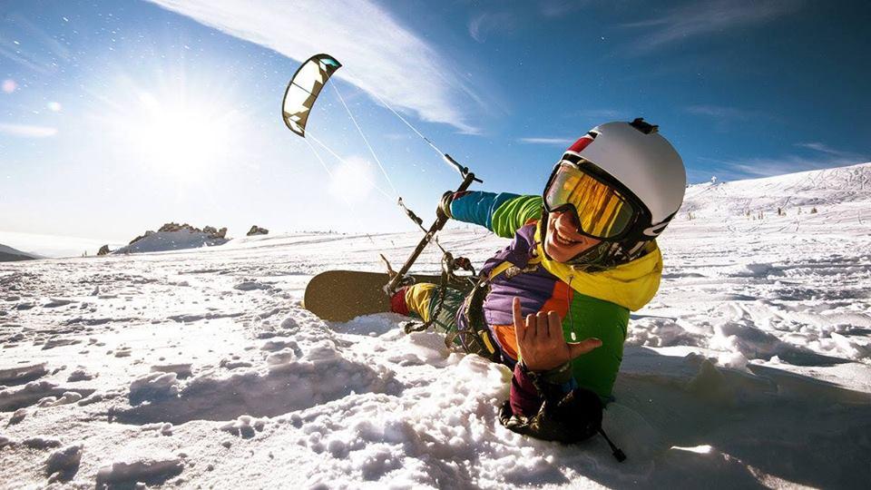Занятия сноукайтингом с инструктором