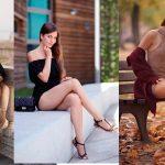 Ariadna Majewska показала все! Секси -провокационный образ: микро-юбка, алый топ и латексные чулки