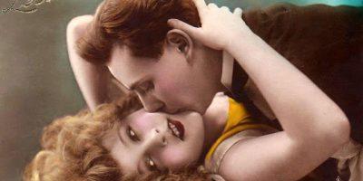 Французские открытки с поцелуями