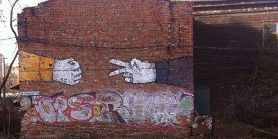 Граффити и Стрит-Арт Камень-ножницы-бумага! Раз-два-три!