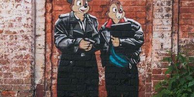 Граффити и Стрит-Арт Чип и Дейл