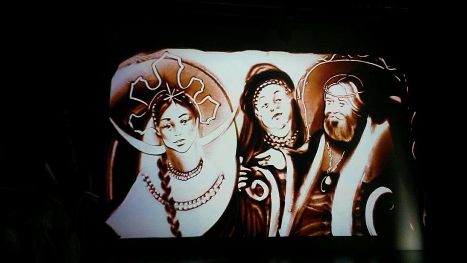 Музыкально песочная фантазия Сказка о царе Салтане